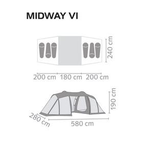 Salewa Midway VI familietent oranje/bruin